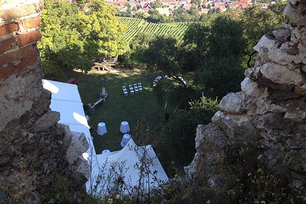 Heiraten auf der Burgruine Falkenstein